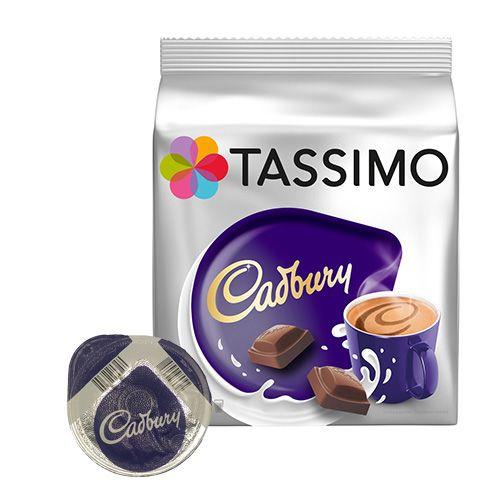 cadbury kakaodrikk 8 kapsler til tassimo for 49 90 kr. Black Bedroom Furniture Sets. Home Design Ideas
